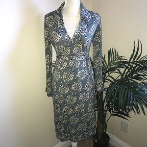 Boden Stretch Wrap Dress 12